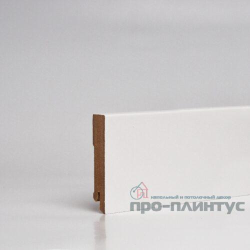 Плинтус белый плоский Pro-line W06-80